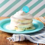 生クリーム専門店ミルクから特濃ミルクソースたっぷり焼き立てふわふわの新作パンケーキ!