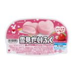 甘酸っぱいいちごアイスともちもち食感のピンクのおもちハート形の雪見だいぶく発売!