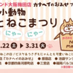 2月22日(にゃーにゃーにゃーでねこの日)から『カナヘイの小動物(※1) ゆるっとねこまつり』を3月31日(火)まで開催