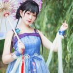 日本からすみれおじさん(紫花菫ちゃん)が参加♡日中オンラインファッションショー