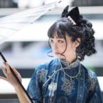 中国から罪音子ちゃんが参加♡日中オンラインファッションショー