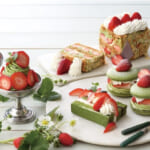 【キハチ カフェ】新食感マカロンなど、春の香りに包まれる新作スイーツが続々登場!苺×抹茶の期間限定フェア