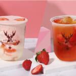 苺によくばりな春(ハート)第2弾 お茶に恋をする本格派ティーストア「THE ALLEY」より、フレッシュ苺を使用した期間限定ドリンク『ストロベリー ソイ リッチ』『ストロベリー グリーンティー』が新発売!