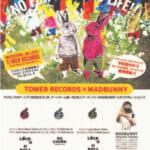 FUJI ROCK FESTIVAL×TOWER RECORDS×MADBUNNY MADBUNNYデザインのメッセージTシャツ 限定販売!