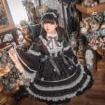 大人気中国ロリータ「AngelsHeart」はゴスロリも一味違った可愛さ!黒と白の色彩でピアノの旋律を感じさせる